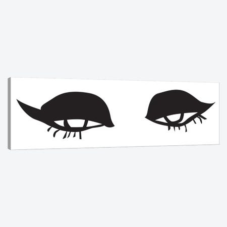 Eyes And Lips Canvas Print #HON86} by Honeymoon Hotel Art Print