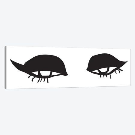 Eyes And Lips Canvas Print #HON86} by Honeymoon Hotel Art Print