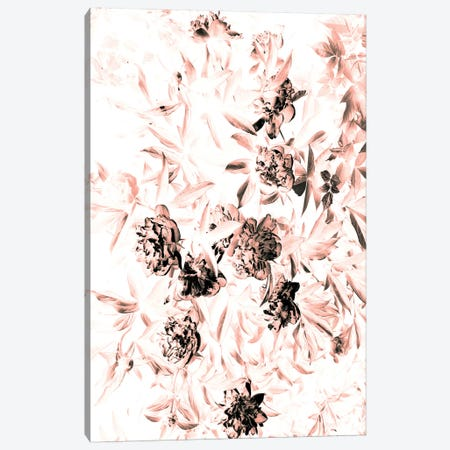 Florals After Dark (Bleached) Canvas Print #HON92} by Honeymoon Hotel Canvas Art Print