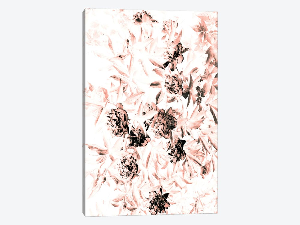 Florals After Dark (Bleached) by Honeymoon Hotel 1-piece Canvas Print