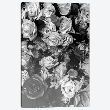 Florals At Midnight Canvas Print #HON93} by Honeymoon Hotel Art Print