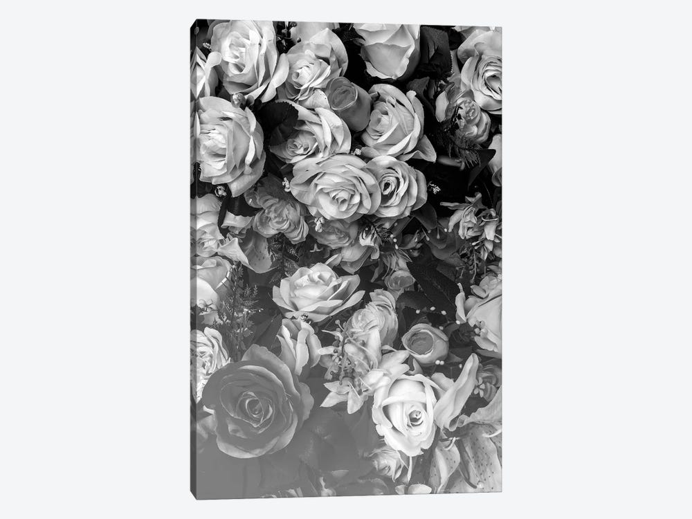 Florals At Midnight 1-piece Canvas Art