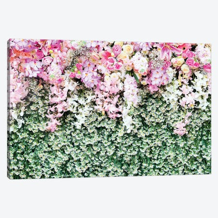 Flower Carpet 3-Piece Canvas #HON94} by Honeymoon Hotel Canvas Art