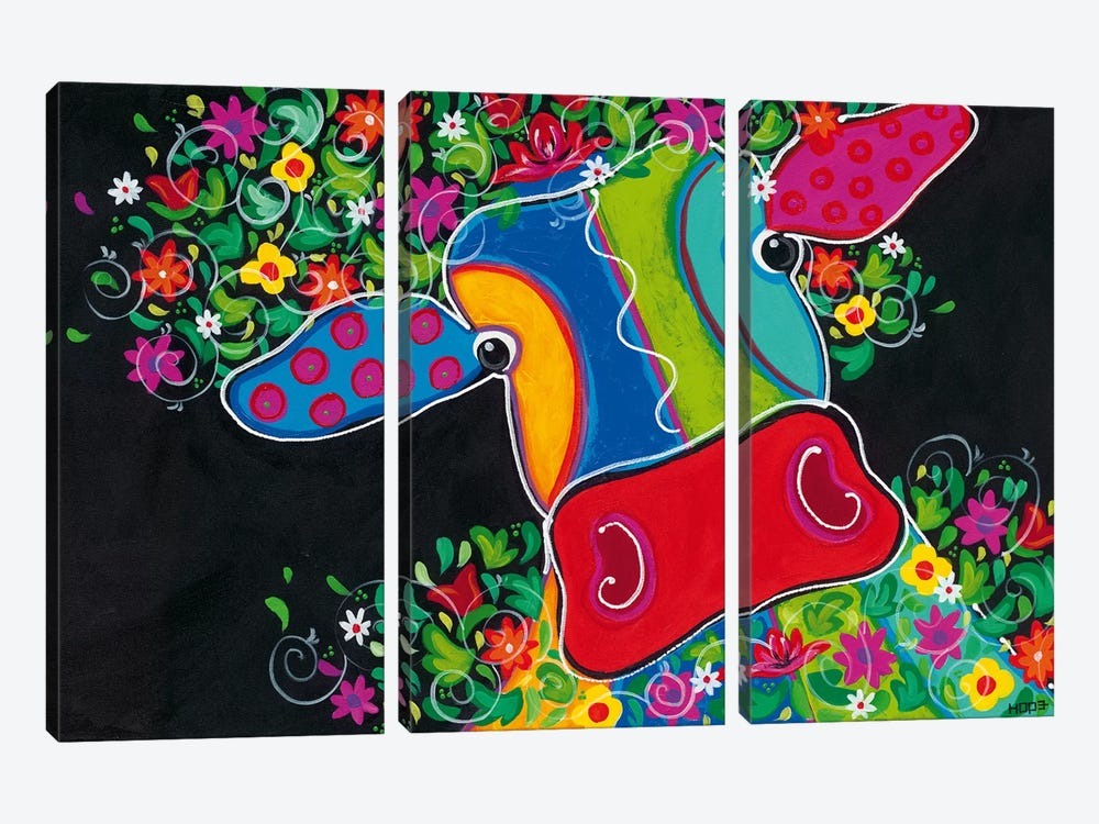 Maya In Total Bliss III by Yvonne Hope 3-piece Canvas Print