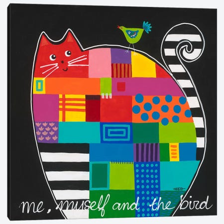 Me, Myself And The Bird Canvas Print #HOP13} by Yvonne Hope Canvas Print