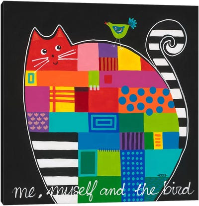 Me, Myself And The Bird Canvas Art Print