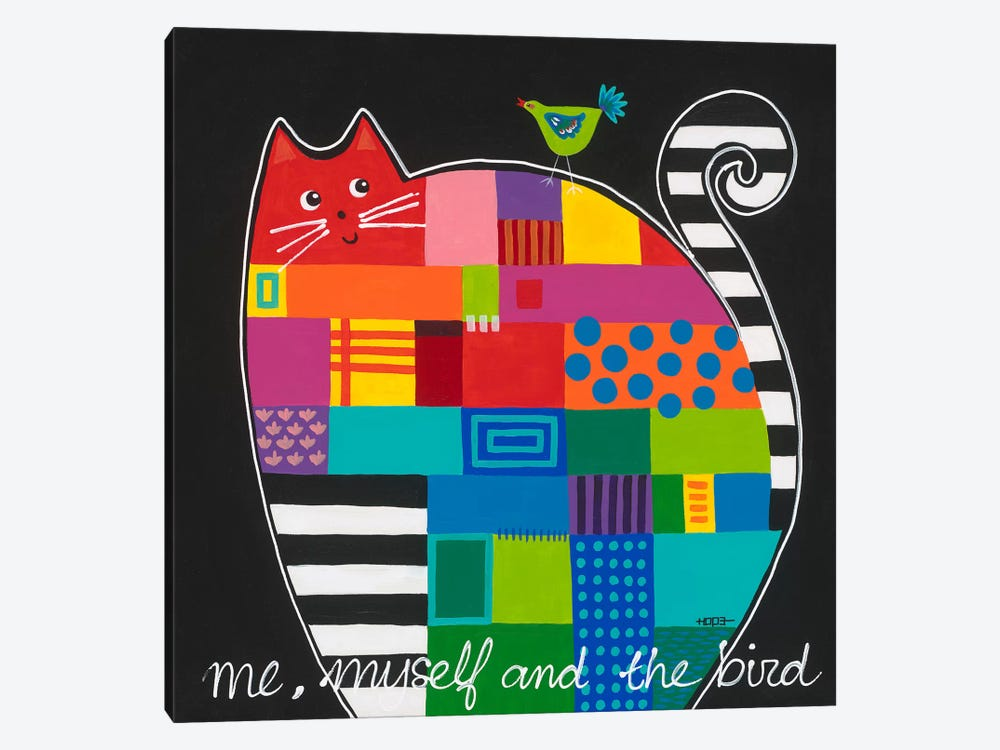 Me, Myself And The Bird by Yvonne Hope 1-piece Canvas Art