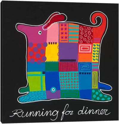 Running For Dinner Canvas Art Print