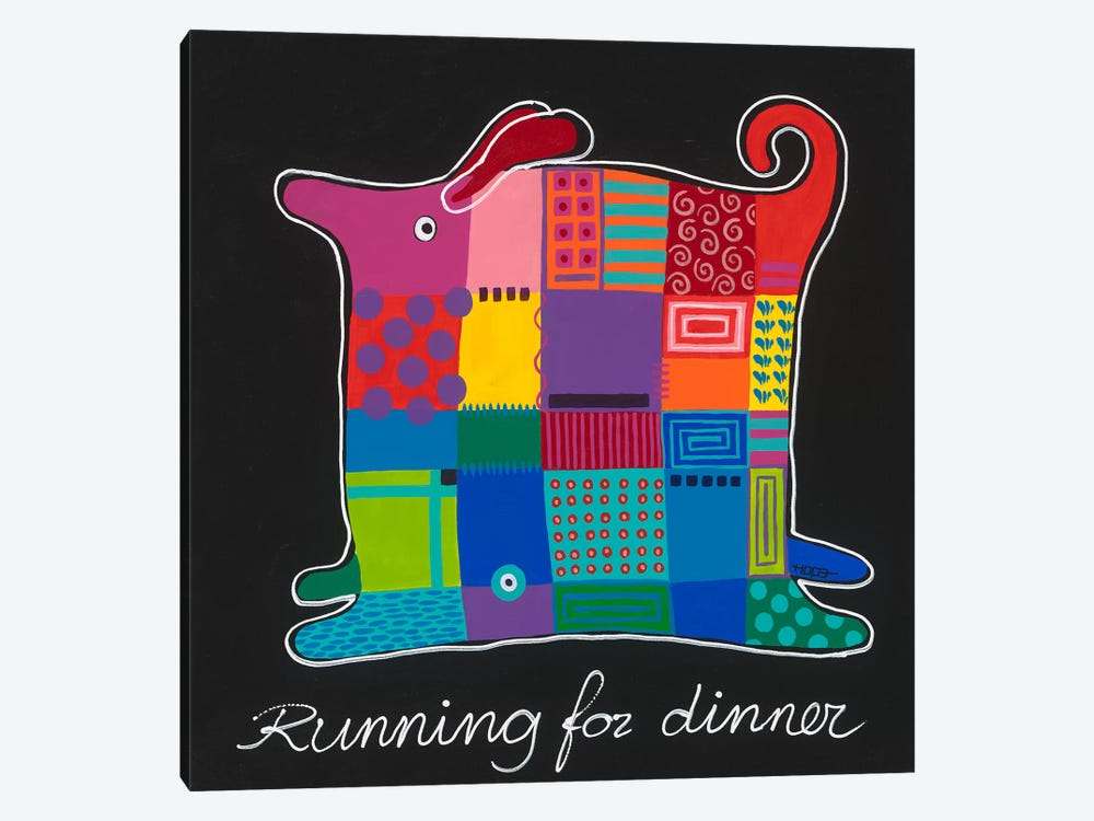 Running For Dinner by Yvonne Hope 1-piece Canvas Wall Art