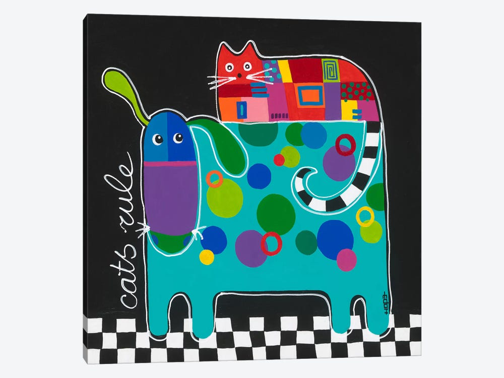 Cats Rule by Yvonne Hope 1-piece Canvas Artwork