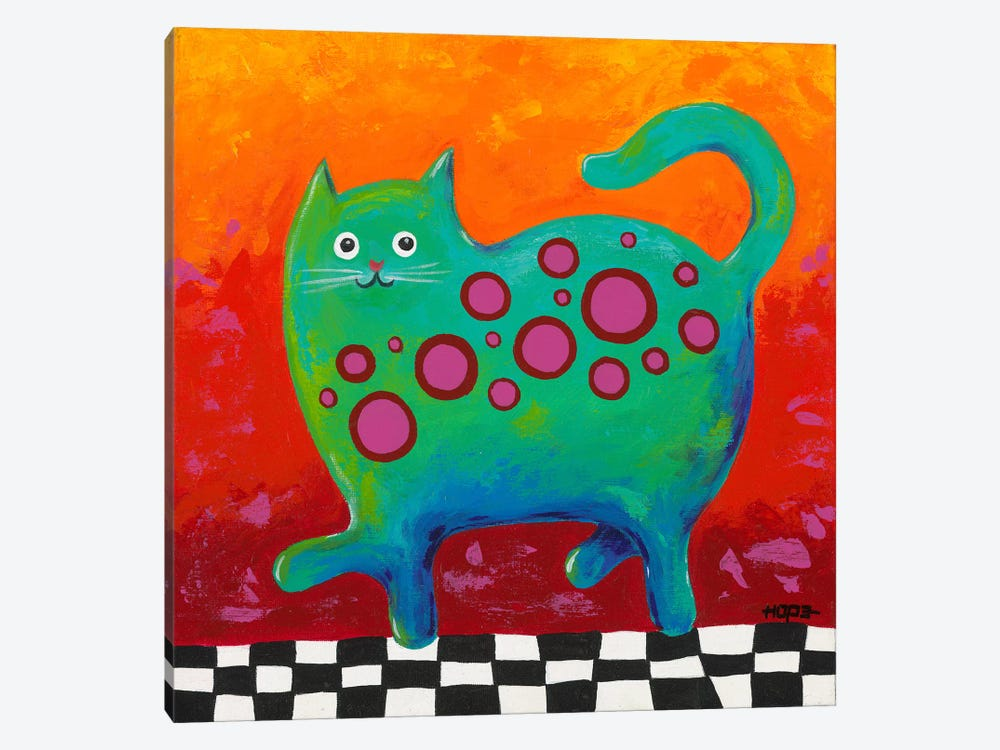 Funny Kitty by Yvonne Hope 1-piece Canvas Art Print