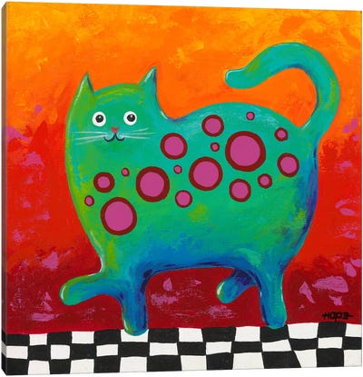 Funny Kitty Canvas Art Print