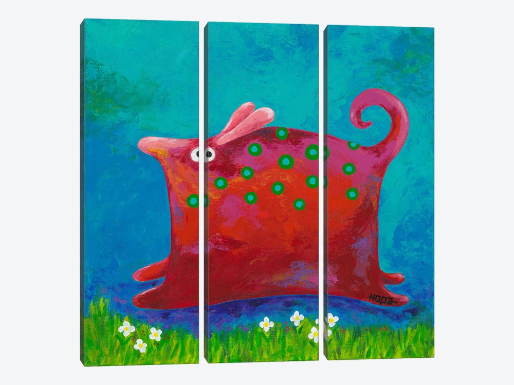 Funny Me by Yvonne Hope 3-piece Canvas Print