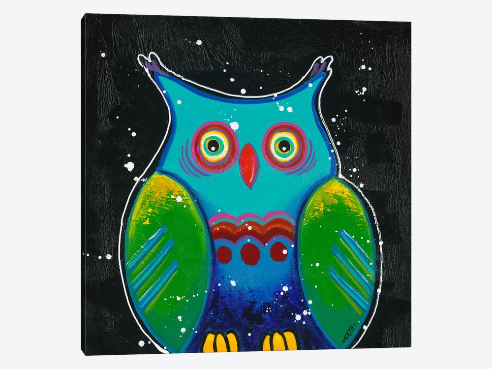 Funny Owl III by Yvonne Hope 1-piece Art Print