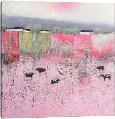 Cow Girls Canvas Art Print