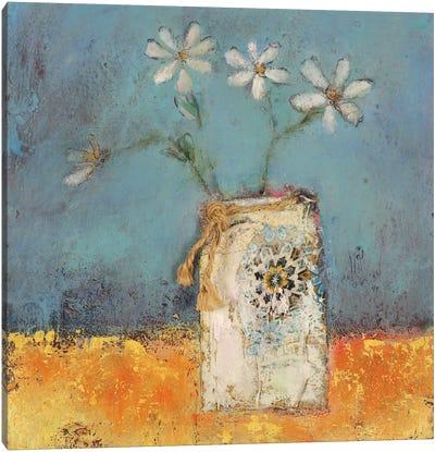 Beach Daisies Canvas Art Print