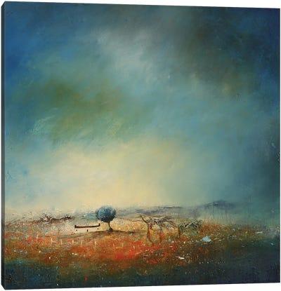 Bluebell Cottage Canvas Art Print