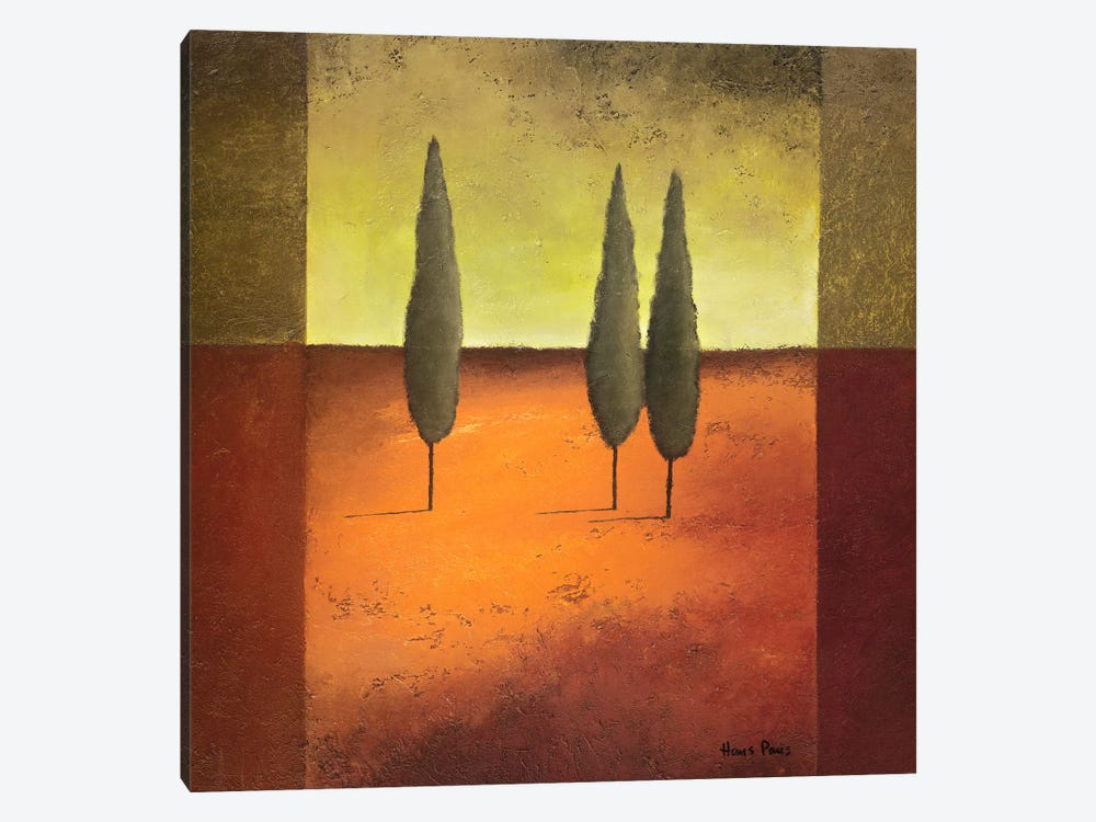 Trees IV by Hans Paus 1-piece Canvas Art Print
