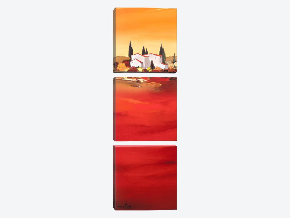 Tuscan Red I by Hans Paus 3-piece Canvas Art
