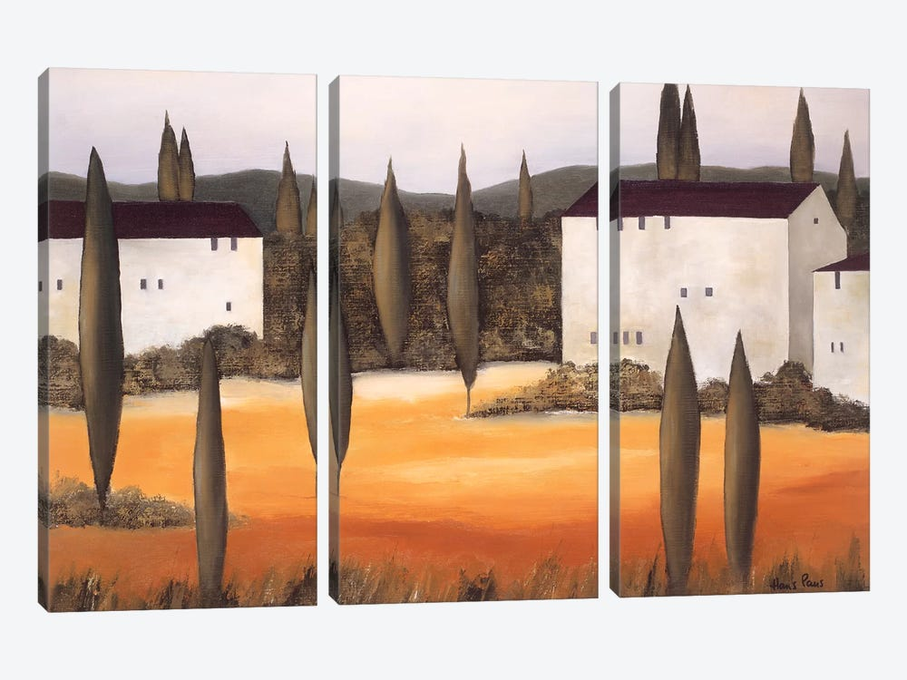 Twilight II by Hans Paus 3-piece Canvas Art Print