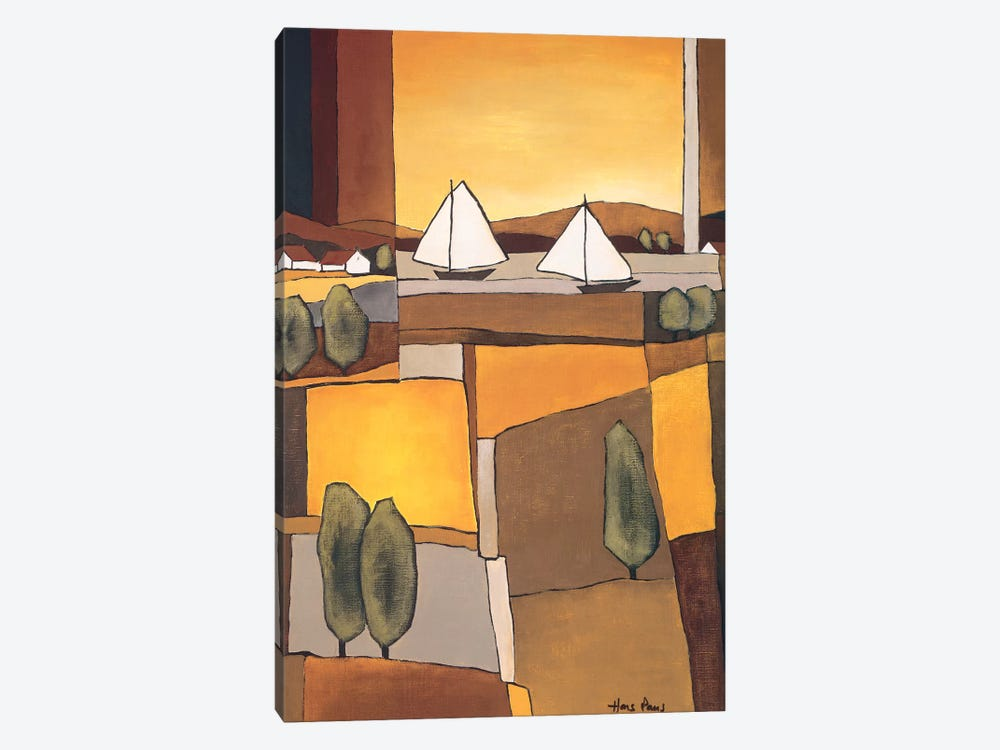 Two Boats I by Hans Paus 1-piece Canvas Art