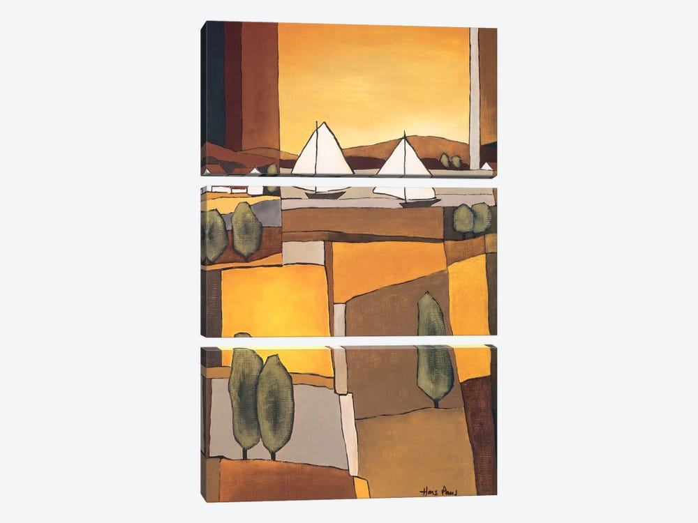 Two Boats I by Hans Paus 3-piece Canvas Art
