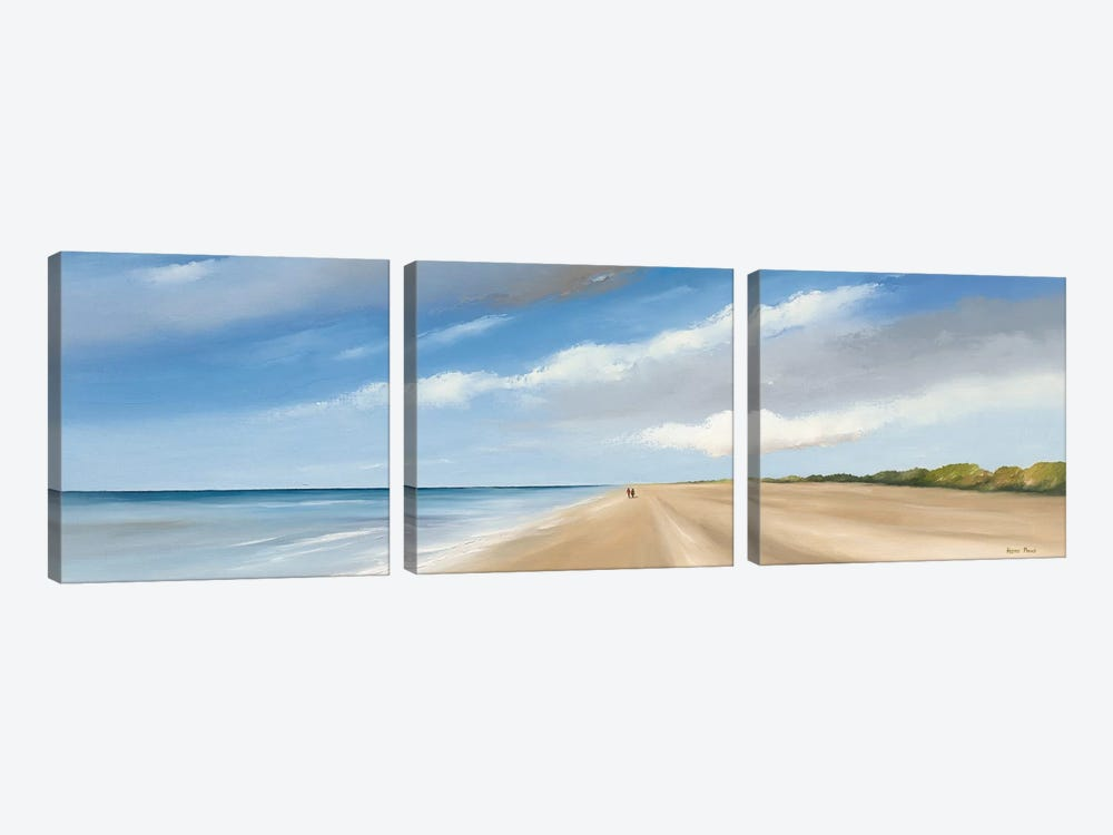 Along The Sea I by Hans Paus 3-piece Art Print
