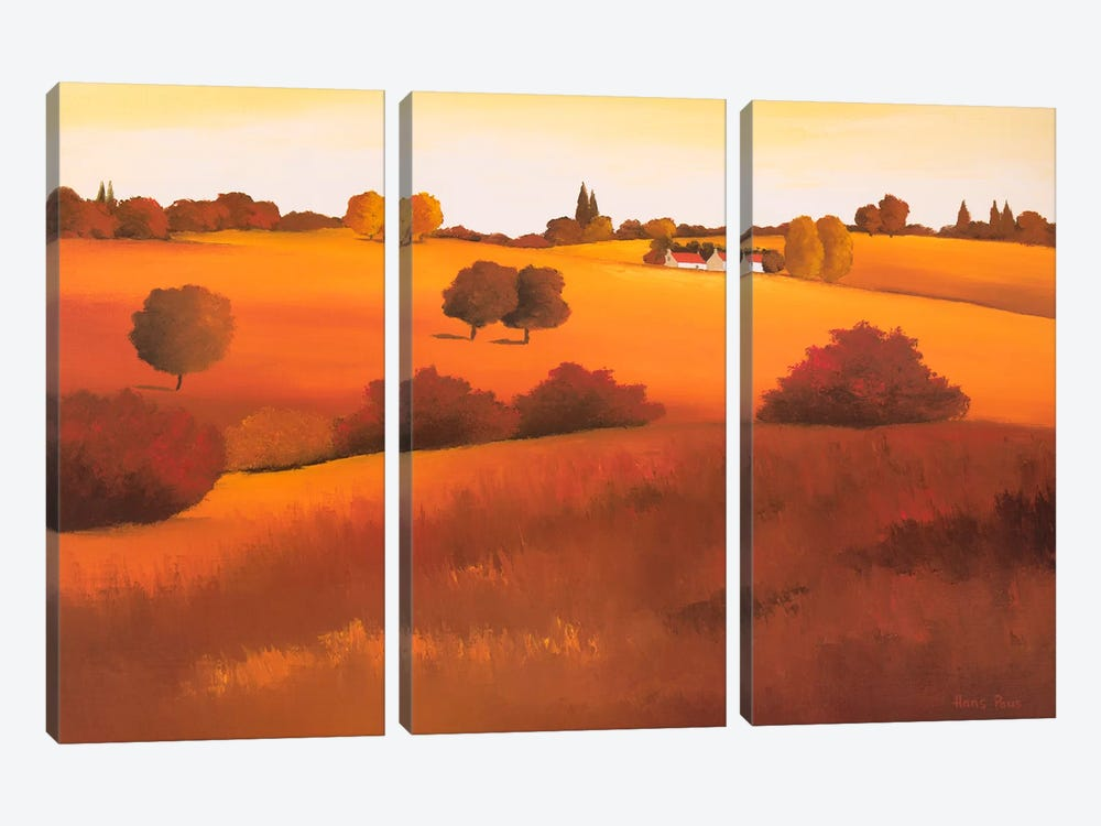 Untainted II by Hans Paus 3-piece Canvas Print