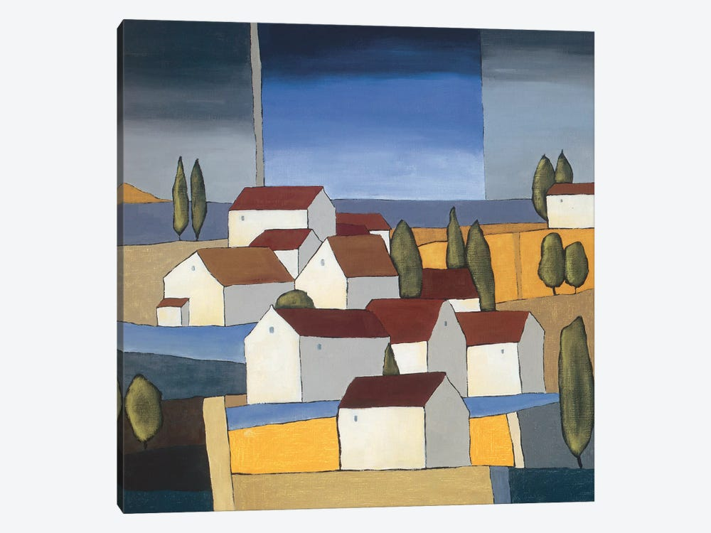 Village Near The Sea I by Hans Paus 1-piece Canvas Art