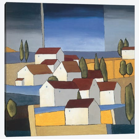 Village Near The Sea I Canvas Print #HPA122} by Hans Paus Canvas Art