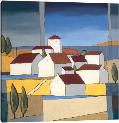 Village Near The Sea II Canvas Art Print