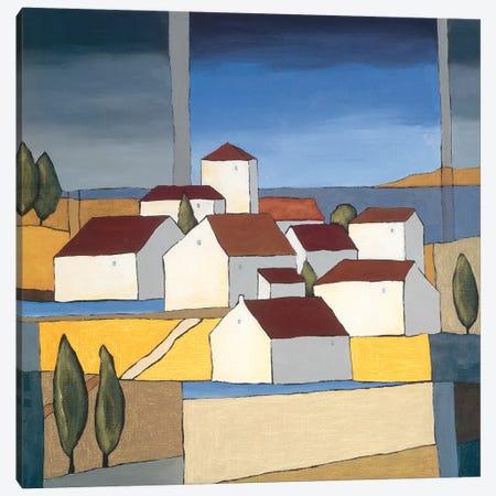 Village Near The Sea II Canvas Print #HPA123} by Hans Paus Canvas Wall Art