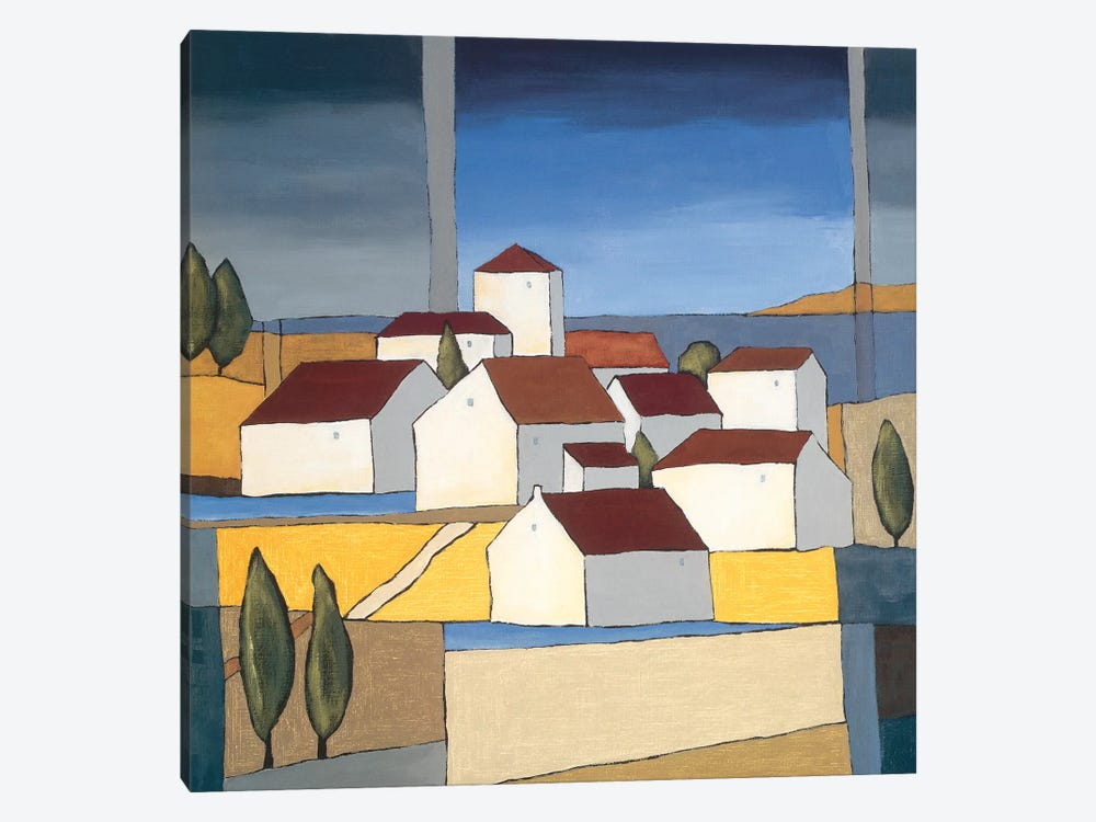 Village Near The Sea II by Hans Paus 1-piece Canvas Art Print