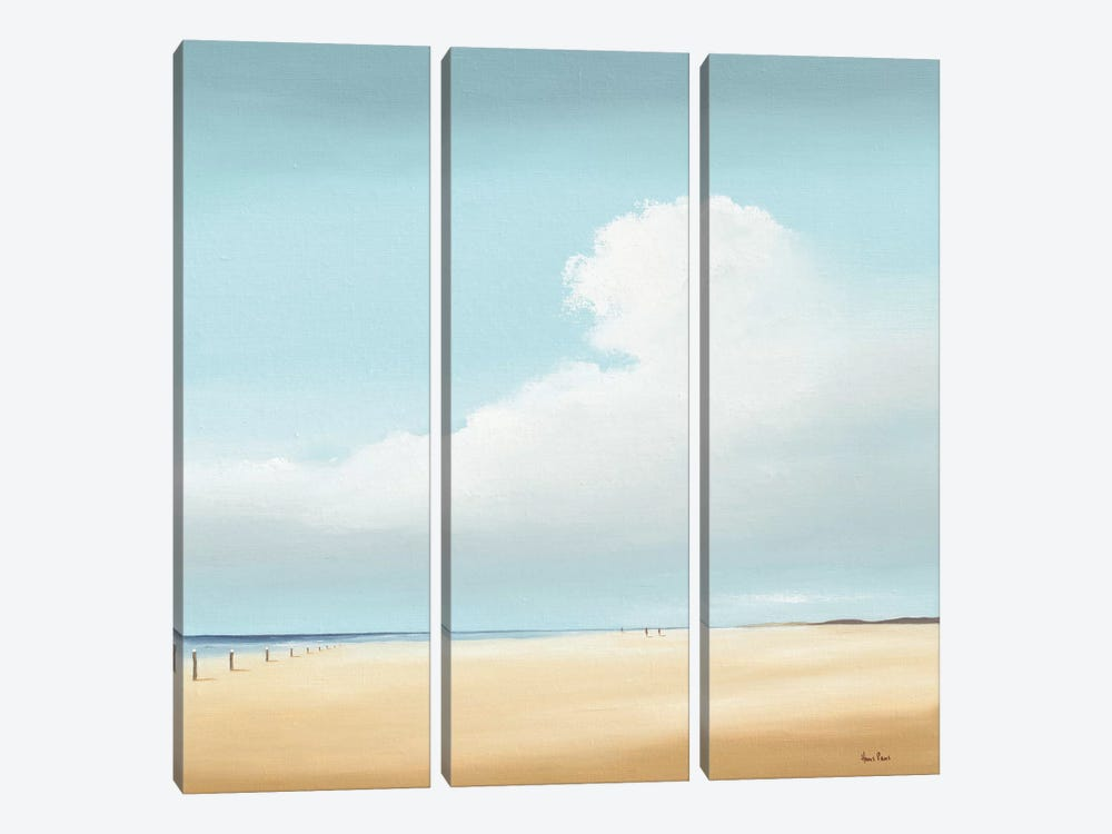 Walking I by Hans Paus 3-piece Canvas Wall Art