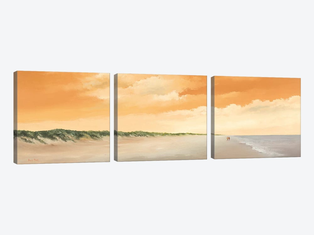 Along The Sea II by Hans Paus 3-piece Canvas Wall Art