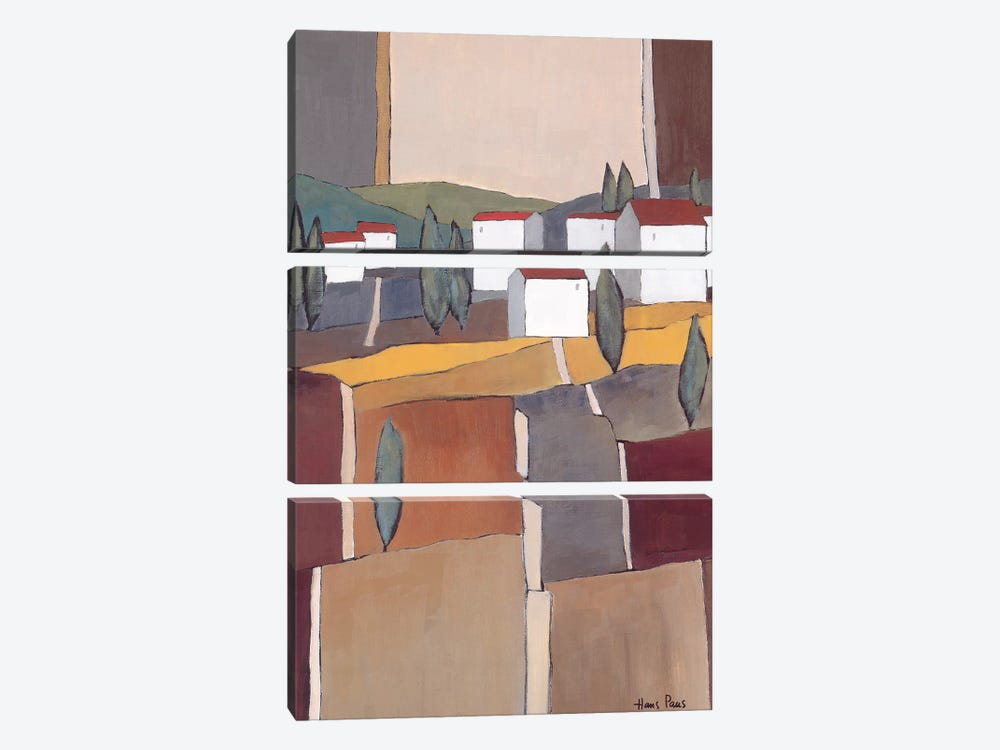 White Houses I by Hans Paus 3-piece Canvas Print