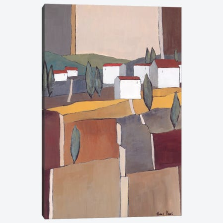 White Houses I Canvas Print #HPA130} by Hans Paus Canvas Art Print