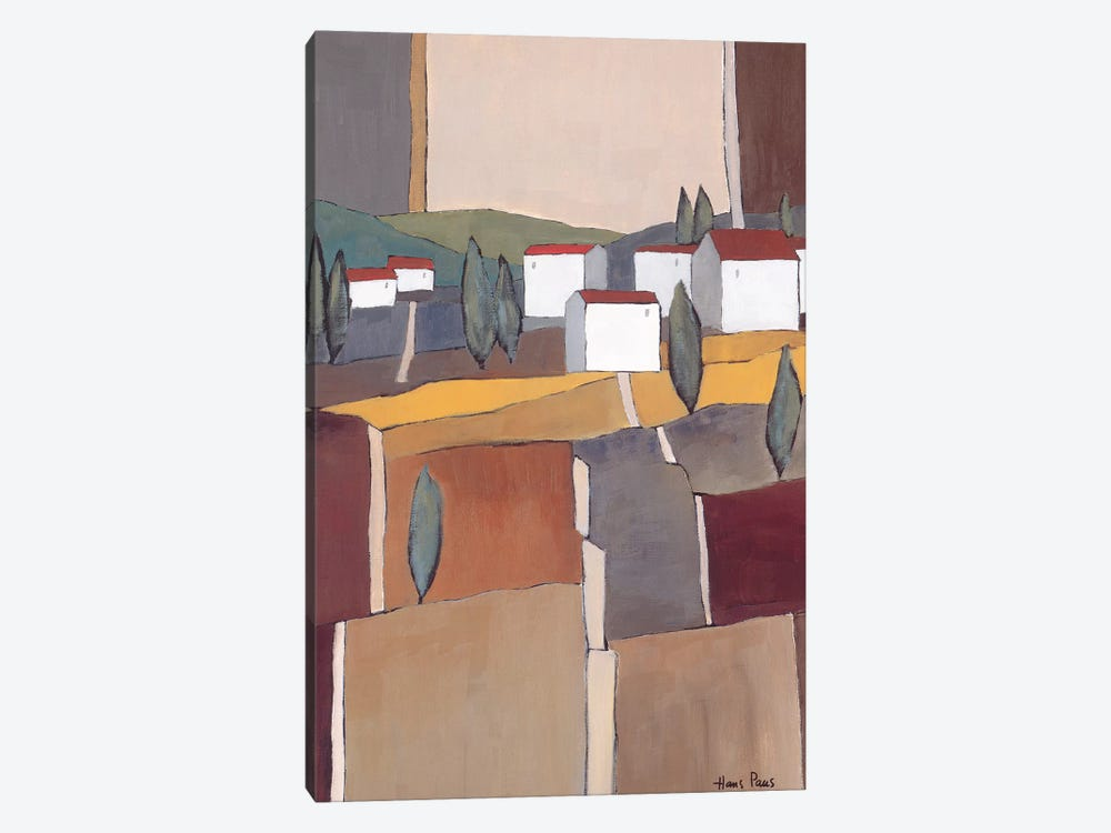 White Houses I by Hans Paus 1-piece Canvas Art Print