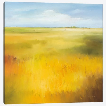 Yellow Field I Canvas Print #HPA131} by Hans Paus Canvas Art Print