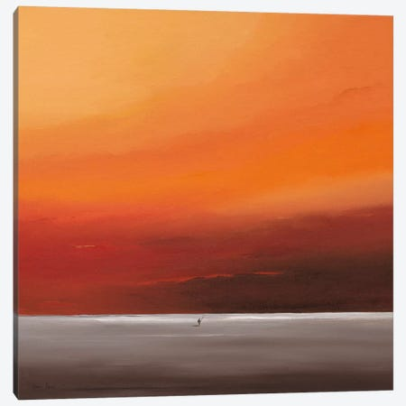 Attractive Red I Canvas Print #HPA13} by Hans Paus Art Print
