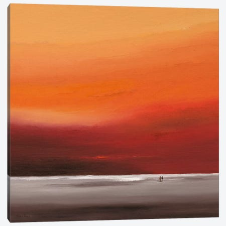 Attractive Red II Canvas Print #HPA14} by Hans Paus Canvas Wall Art