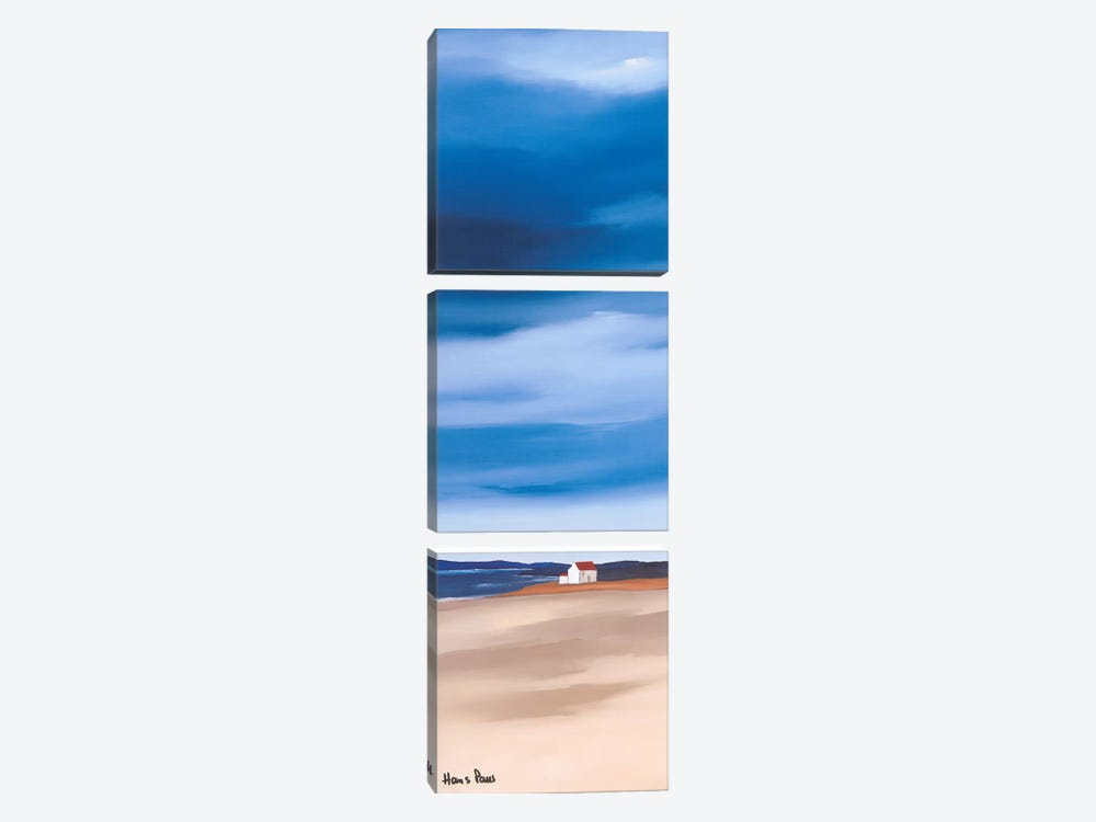 Blue Sky I by Hans Paus 3-piece Canvas Art Print