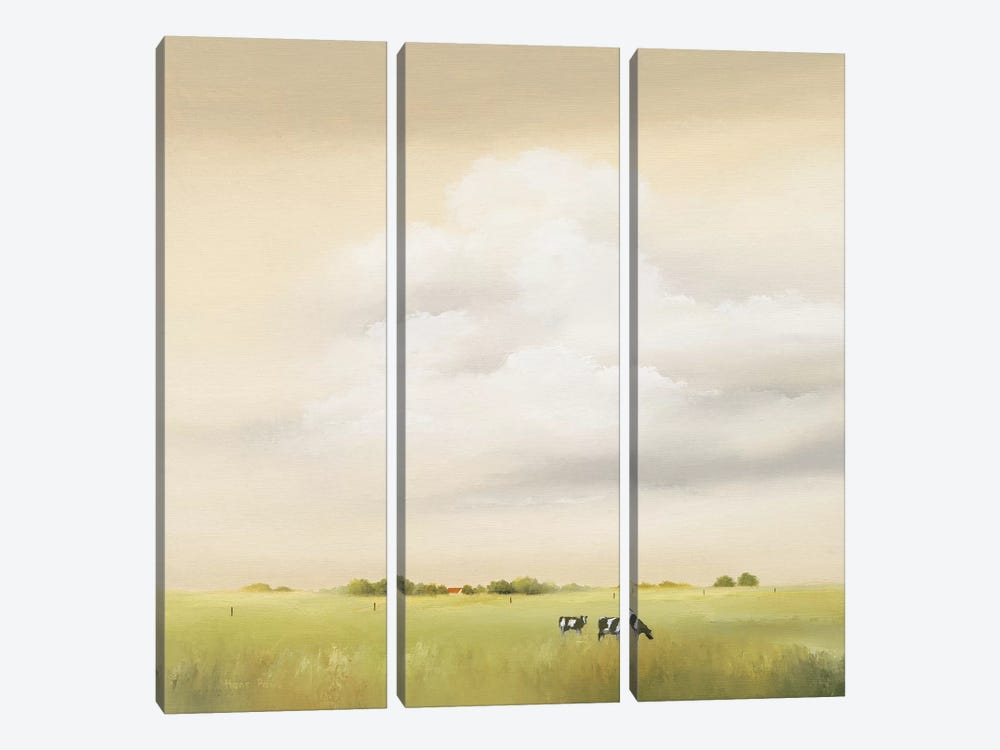 Cows I by Hans Paus 3-piece Canvas Art
