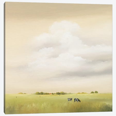 Cows I Canvas Print #HPA25} by Hans Paus Art Print
