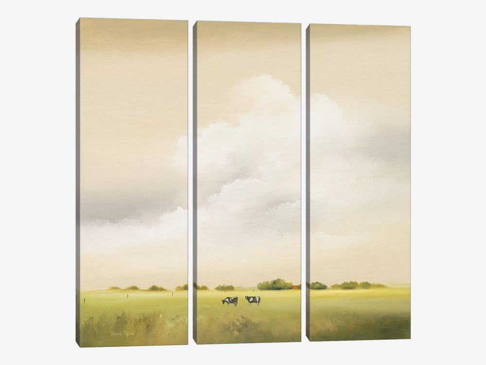Cows II by Hans Paus 3-piece Canvas Art Print