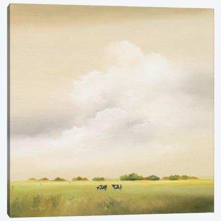 Cows II Canvas Print #HPA26} by Hans Paus Art Print