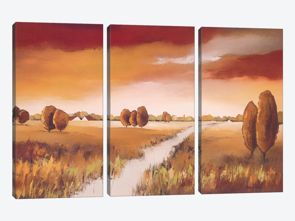 Down The River I by Hans Paus 3-piece Canvas Art