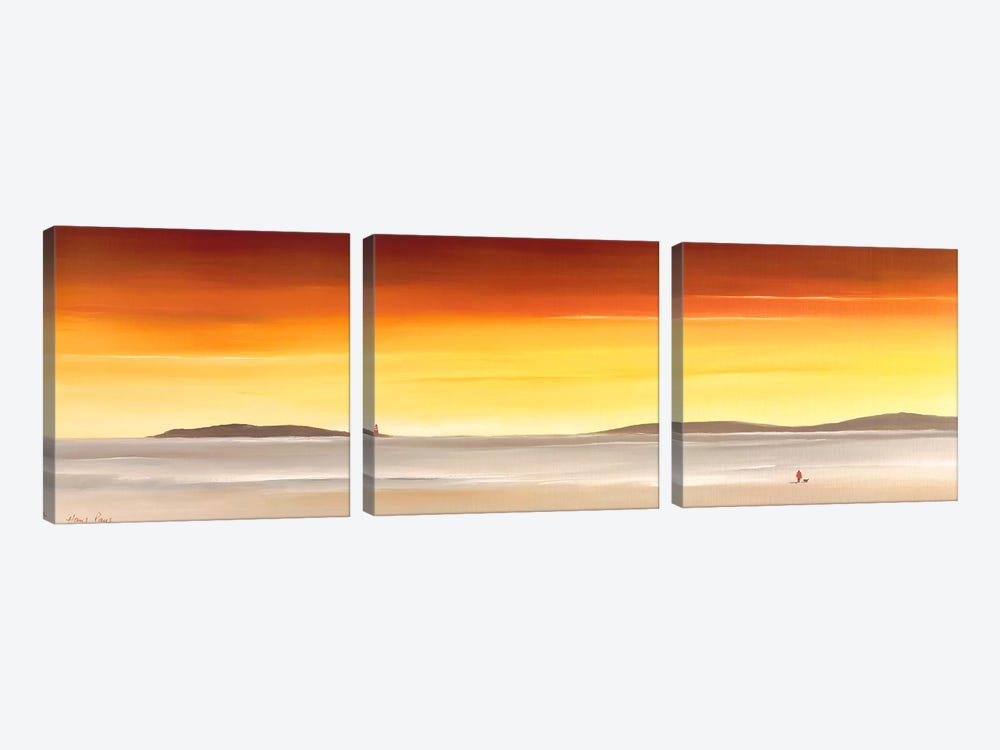 A Place To Mediate On II by Hans Paus 3-piece Canvas Wall Art