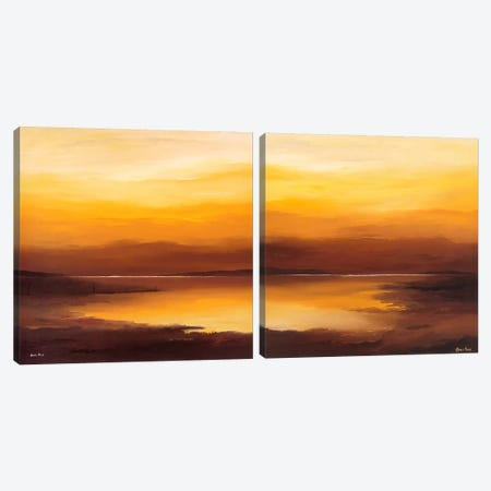 Evening Sky Diptych Canvas Print Set #HPA2HSET001} by Hans Paus Art Print