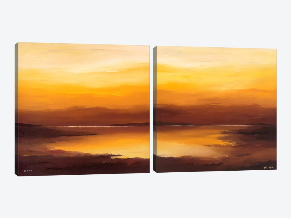 Evening Sky Diptych by Hans Paus 2-piece Canvas Print
